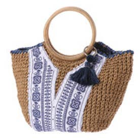 カカトゥ kakatoo ラウンド型フロント刺繍トートバッグ (アイボリー)