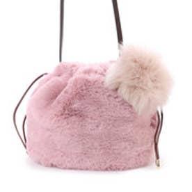 カカトゥ kakatoo エコファー巾着ショルダーバッグ (ピンク)