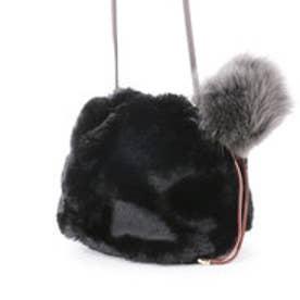 カカトゥ kakatoo エコファー巾着ショルダーバッグ (ブラック)