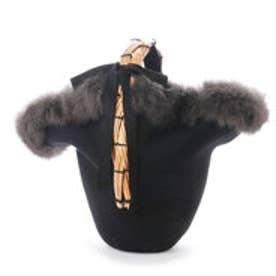 カカトゥ kakatoo フェルト帽体柳ハンドルかごバッグ (ブラック)