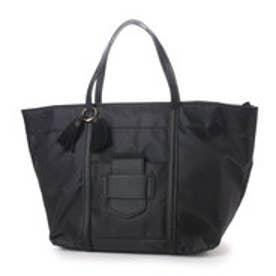 カカトゥ kakatoo フロントポケットポイントナイロントートバッグ (ブラック)