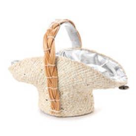 カカトゥ kakatoo メイズ帽体柳ハンドルかごバッグ (シルバー)