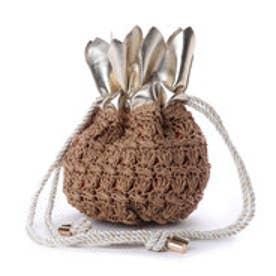 カカトゥ kakatoo パイナップル巾着かごショルダー (ゴールド)