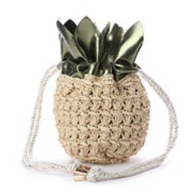 カカトゥ kakatoo パイナップル巾着かごショルダー (グリーン)