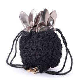 カカトゥ kakatoo パイナップル巾着かごショルダー (ブラック)