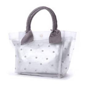 カカトゥ kakatoo 星刺繍チュールトートバッグ (アイボリー)