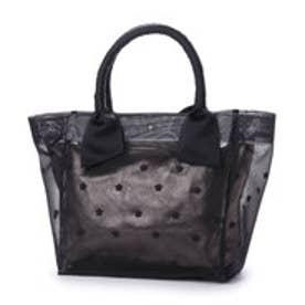 カカトゥ kakatoo 星刺繍チュールトートバッグ (ブラック)