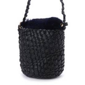 カカトゥ kakatoo エコファーフラップ付きメッシュバケツトートバッグ (ブラック)