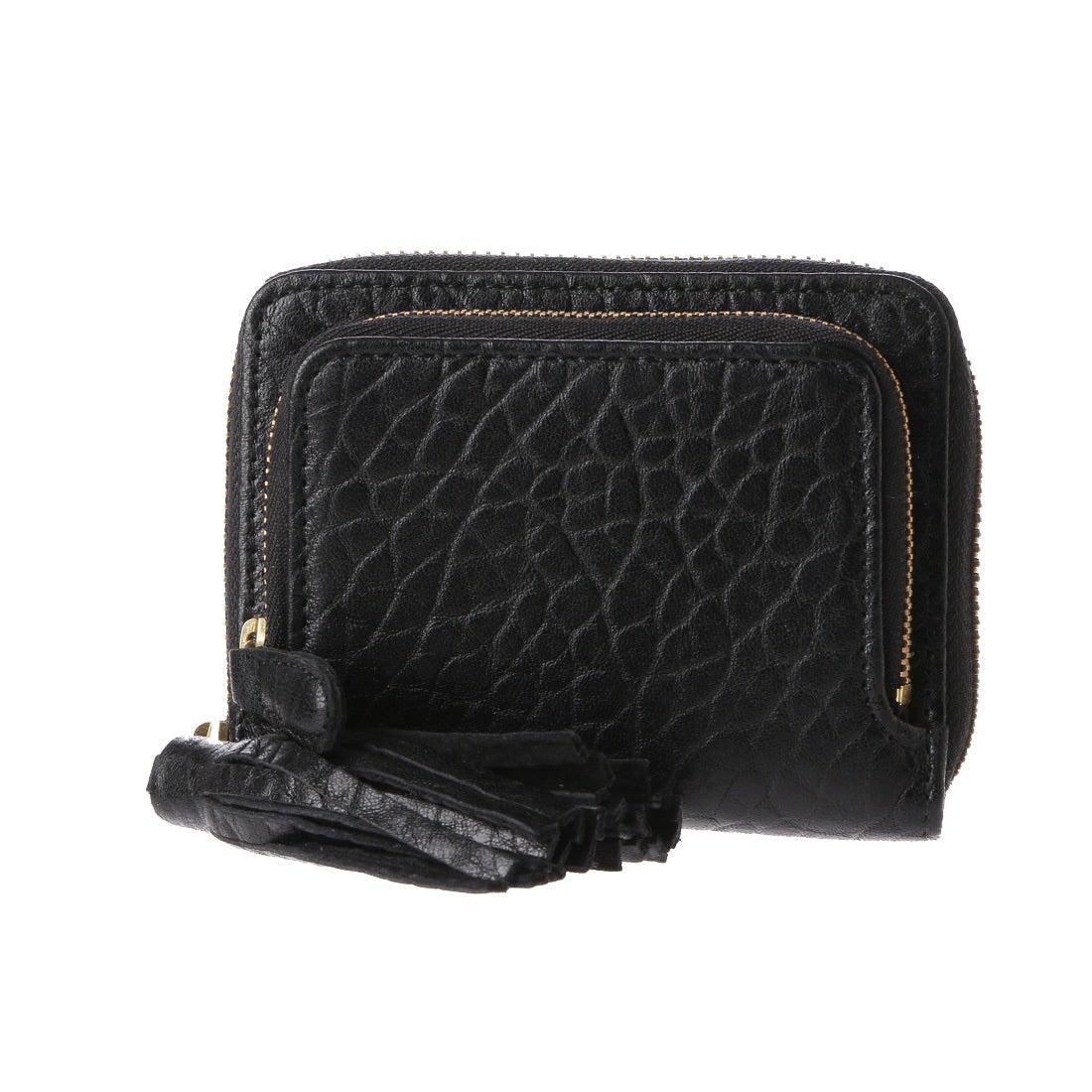 5e33fce2c86c ペルケ perche 厚口シープタッセル付き二つ折り財布 (ブラック) -靴&ファッション通販 ロコンド〜自宅で試着、気軽に返品