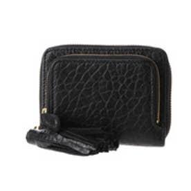 ペルケ perche 厚口シープタッセル付き二つ折り財布 (ブラック)