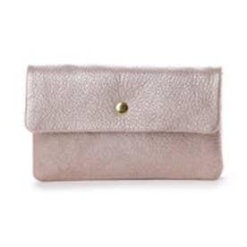 ペルケ perche ソフトバッファロー袋縫いかぶせ長財布 (ピンク)
