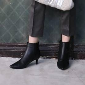 【大好評】ラウナレア Launa lea ポインテッドトゥショートブーツ (ブラック)