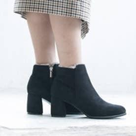 【2017AW】ラウナレア Launa lea 履き口ファーブーツ (ブラックS)