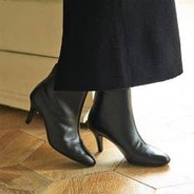 【雑誌掲載】ラウナレア Launa lea バックファスナーショートブーツ(0206) (ブラック)