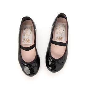 ラウナレアバレエ Launa lea ballet キッズ ラウンドトゥバレエシューズ (ブラックE)