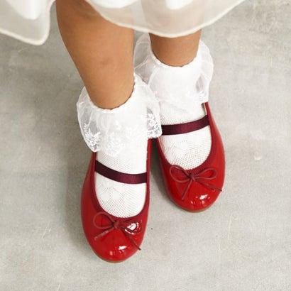 【2018SS】ラウナレアバレエ Launa lea ballet キッズ ラウンドトゥバレエシューズ (レッドE)