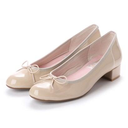 【2018SS】ラウナレアバレエ Launa lea ballet ラウンドトゥヒールバレエシューズ (LベージュE)