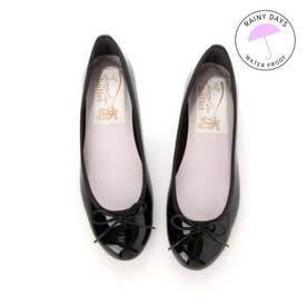 【レイン対応】ラウナレアバレエ Launa lea ballet RainyDay ラウンドトゥバレエシューズ (ブラックE)