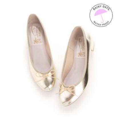【雑誌掲載】ラウナレアバレエ Launa lea ballet RainyDay ラウンドトゥヒールバレエシューズ (プラチナ)