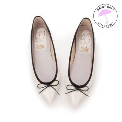 【レイン対応】ラウナレアバレエ Launa lea ballet RainyDay ポインテットトゥバレエシューズ (アイボリーE/C)