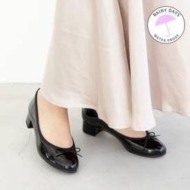 【レイン対応】ラウナレアバレエ Launa lea ballet RainyDay ラウンドトゥヒールバレエシューズ (ブラックE)