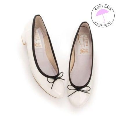 【レイン対応】ラウナレアバレエ Launa lea ballet RainyDay ラウンドトゥヒールバレエシューズ (アイボリーE/C)