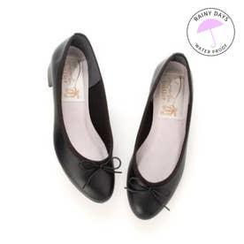 【レイン対応】ラウナレアバレエ Launa lea ballet RainyDay ラウンドトゥヒールバレエシューズ (ブラック)