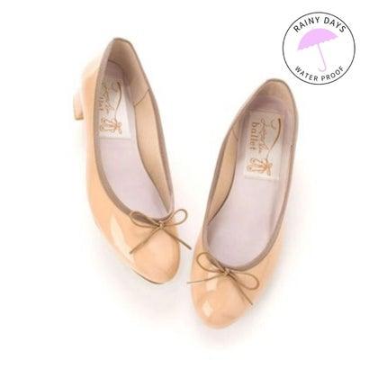 ラウナレアバレエ Launa lea ballet RainyDay ラウンドトゥヒールバレエシューズ (PKベージュE)