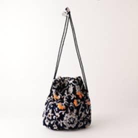 オデット エ オディール ODETTE E ODILE JAMIRAY Floral Bag (NAVY)
