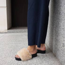 オデット エ オディール ODETTE E ODILE 【WEB限定】O フットベットフェイクファー サンダル35● (BEIGE)