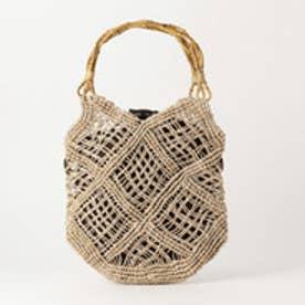 オデット エ オディール ODETTE E ODILE BAGMATI Wood&Crochet BAG (BEIGE)