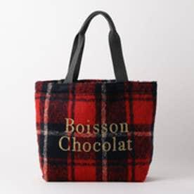 ボワソンショコラ Boisson Chocolat B ロゴトートチェック M (レッド)