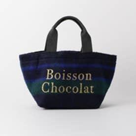 ボワソンショコラ Boisson Chocolat B ロゴトートチェック S (ネイビー)
