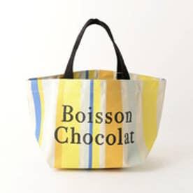 ボワソンショコラ BOISSON CHOCOLAT B ロゴトートマルチストライプ S (BEIGE)