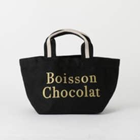 ボワソンショコラ BOISSON CHOCOLAT B ロゴトートストライプ S (BLACK)