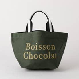 ボワソンショコラ BOISSON CHOCOLAT B ロゴトートストライプ S (OLIVE)