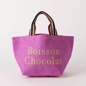 ボワソンショコラ BOISSON CHOCOLAT B ロゴトートストライプ S (PURPLE)
