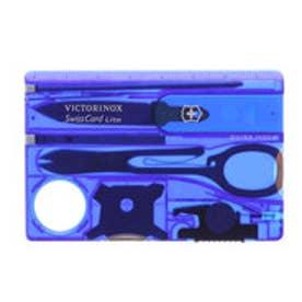 ビクトリノックス Victorinox スイスカードライトT2 BL (トランスルーセント ブルー)