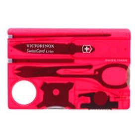 ビクトリノックス Victorinox スイスカードライトT (トランスルーセント レッド)