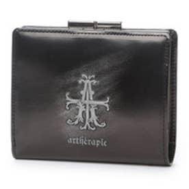 アルセラピィ artherapie Aクロスラスター 二つ折りがま口財布 (シルバー)
