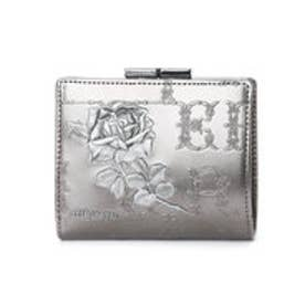 アルセラピィ artherapie フィセルローズ 二つ折りがま口財布 (シルバー)