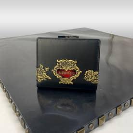 アルセラピィ artherapie ローズジャルダン 二つ折りがま口財布 (ブラック)