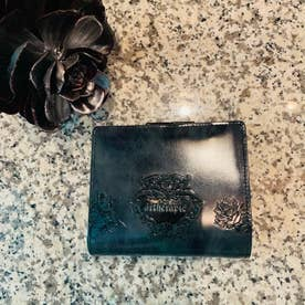 アルセラピィ artherapie ローズジャルダン 二つ折りがま口財布 (ブルー)