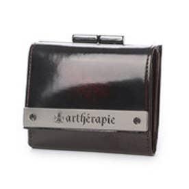 アルセラピィ artherapie ATメタルプレートアドバン 三つ折りがま口 ミニ財布 (ボルドー)