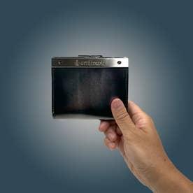 アルセラピィ artherapie ATメタルプレートアドバン 二つ折りがま口財布 (シルバー)
