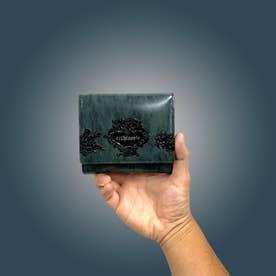 アルセラピィ artherapie ローズジャルダン 二つ折り財布 アウトポケット(ブルー)