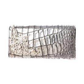 アルセラピィ artherapie ラクシュリーメタリッククロコ かぶせ長財布 (シルバー)