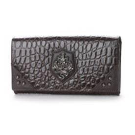 アルセラピィ artherapie クロコディル かぶせ長財布 (ブラウン)
