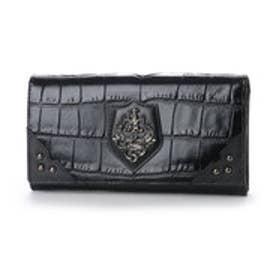 アルセラピィ artherapie クロコディル かぶせがま口長財布 (ブラック)