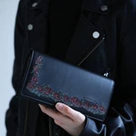 アルセラピィ artherapie ローズリース かぶせがま口長財布 (ブラック)